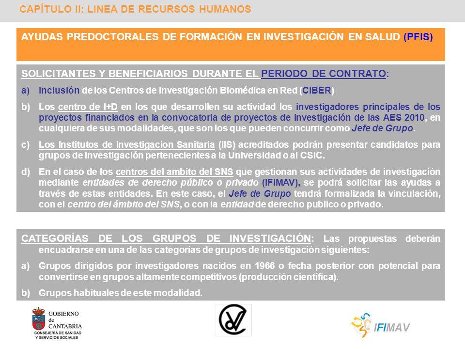 CAPÍTULO II: LINEA DE RECURSOS HUMANOS AYUDAS PREDOCTORALES DE FORMACIÓN EN INVESTIGACIÓN EN SALUD (PFIS) SOLICITANTES Y BENEFICIARIOS DURANTE EL PERI