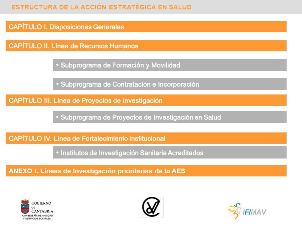 ESTRUCTURA DE LA ACCIÓN ESTRATÉGICA EN SALUD ANEXO I. Líneas de Investigación prioritarias de la AES