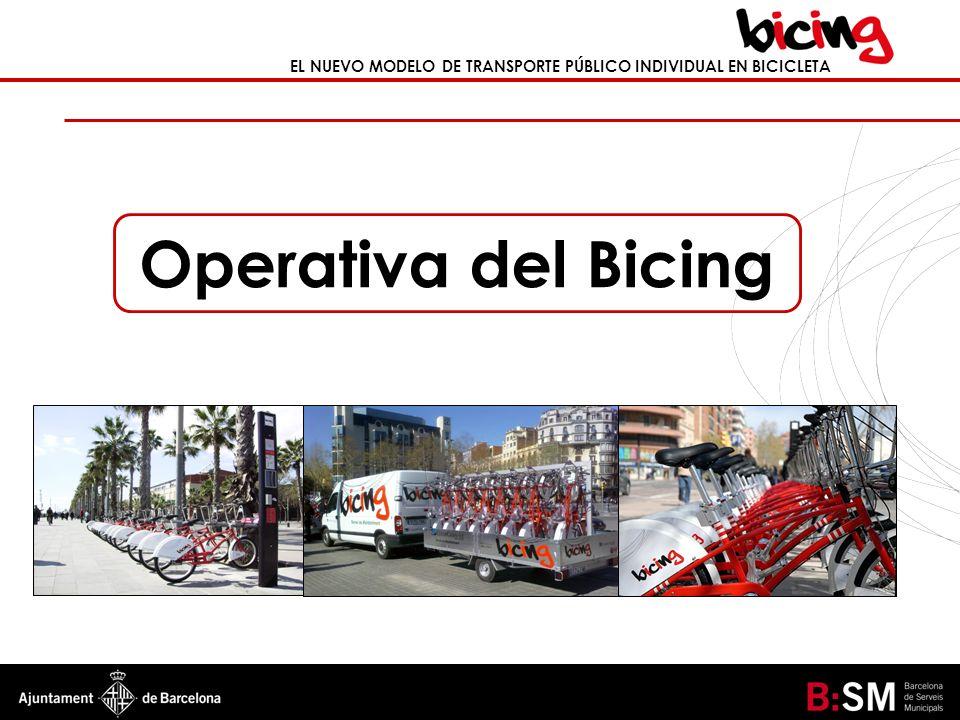 EL NUEVO MODELO DE TRANSPORTE PÚBLICO INDIVIDUAL EN BICICLETA Operativa del Bicing