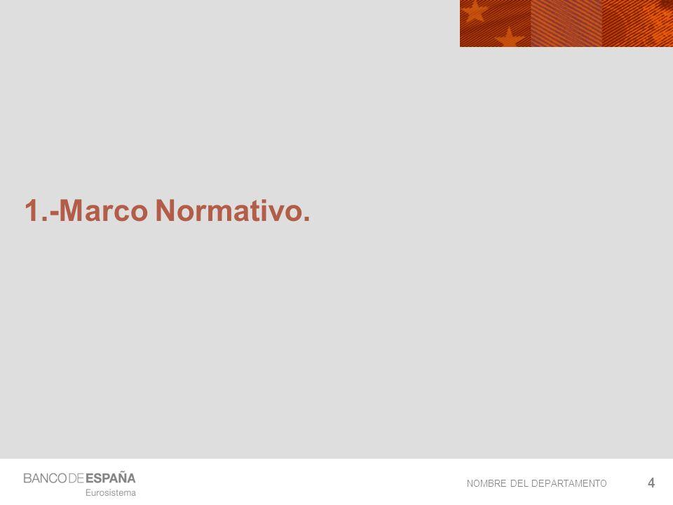 NOMBRE DEL DEPARTAMENTO 1.-Marco Normativo. 4