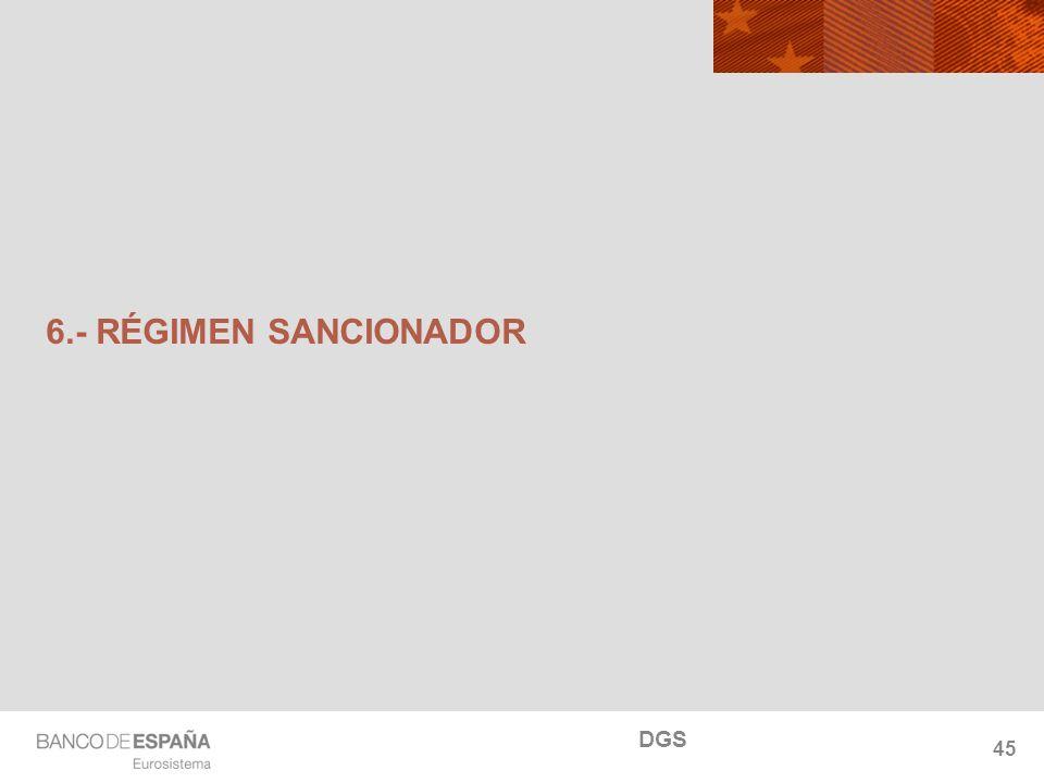 NOMBRE DEL DEPARTAMENTO 45 6.- RÉGIMEN SANCIONADOR DGS