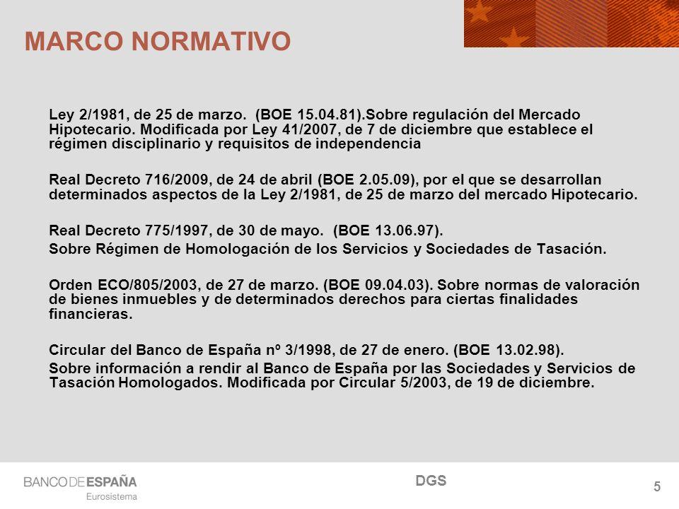 NOMBRE DEL DEPARTAMENTO 5 MARCO NORMATIVO Ley 2/1981, de 25 de marzo. (BOE 15.04.81).Sobre regulación del Mercado Hipotecario. Modificada por Ley 41/2