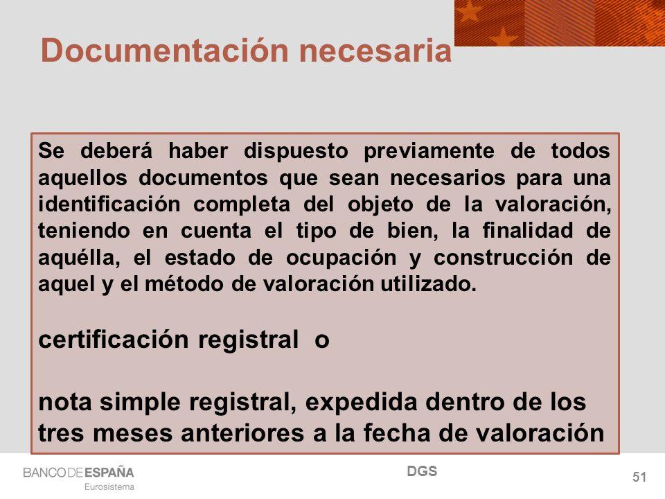 NOMBRE DEL DEPARTAMENTO Documentación necesaria Se deberá haber dispuesto previamente de todos aquellos documentos que sean necesarios para una identi