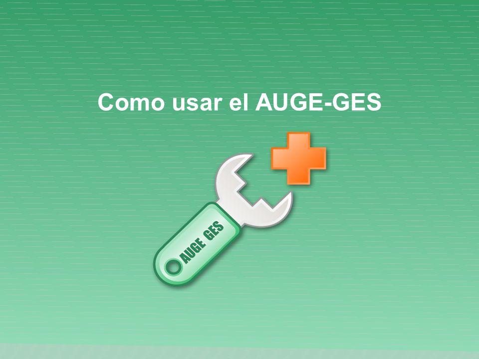 Como usar el AUGE-GES
