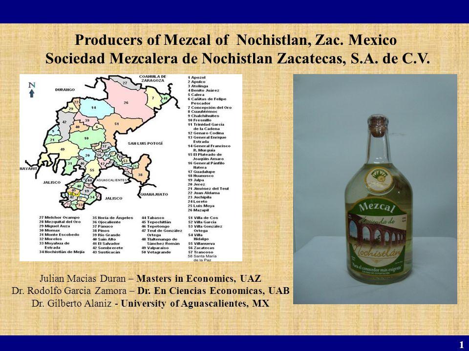 1 Julian Macias Duran – Masters in Economics, UAZ Dr. Rodolfo Garcia Zamora – Dr. En Ciencias Economicas, UAB Dr. Gilberto Alaniz - University of Agua
