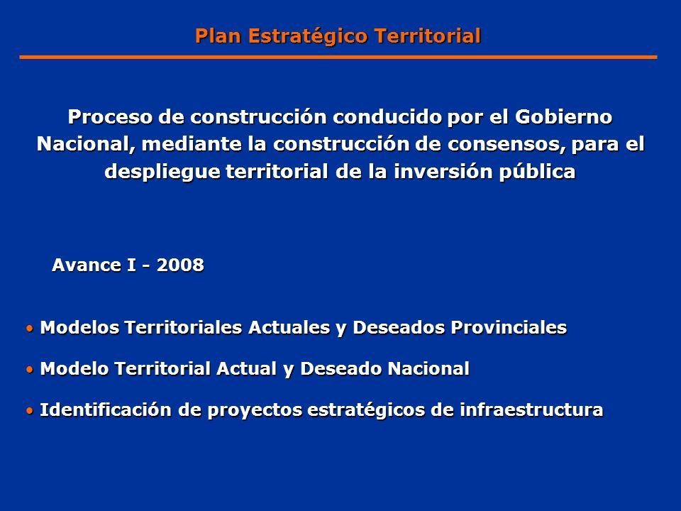 Proceso de construcción conducido por el Gobierno Nacional, mediante la construcción de consensos, para el despliegue territorial de la inversión públ