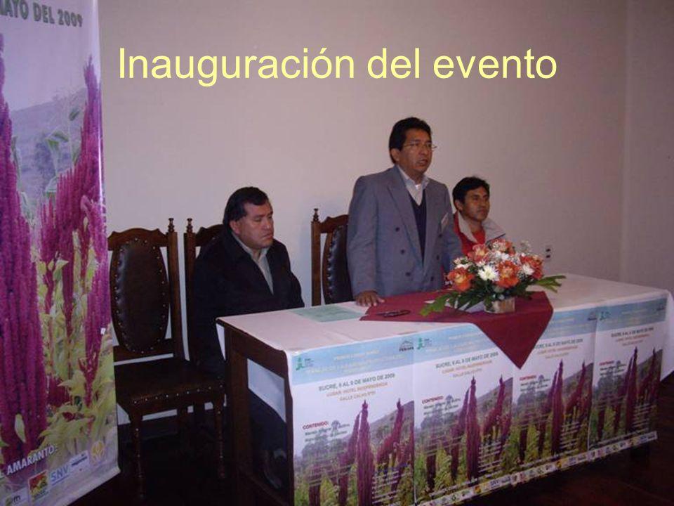 Inauguración del evento