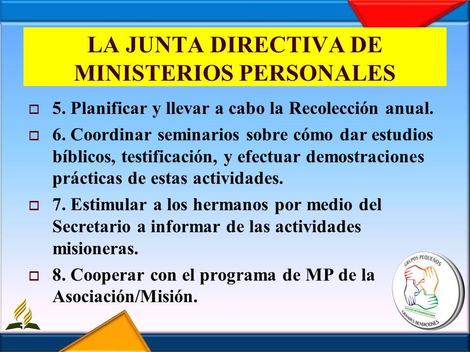 LA JUNTA DIRECTIVA DE MINISTERIOS PERSONALES 9.Autorizar el desembolso de fondos del Depto.