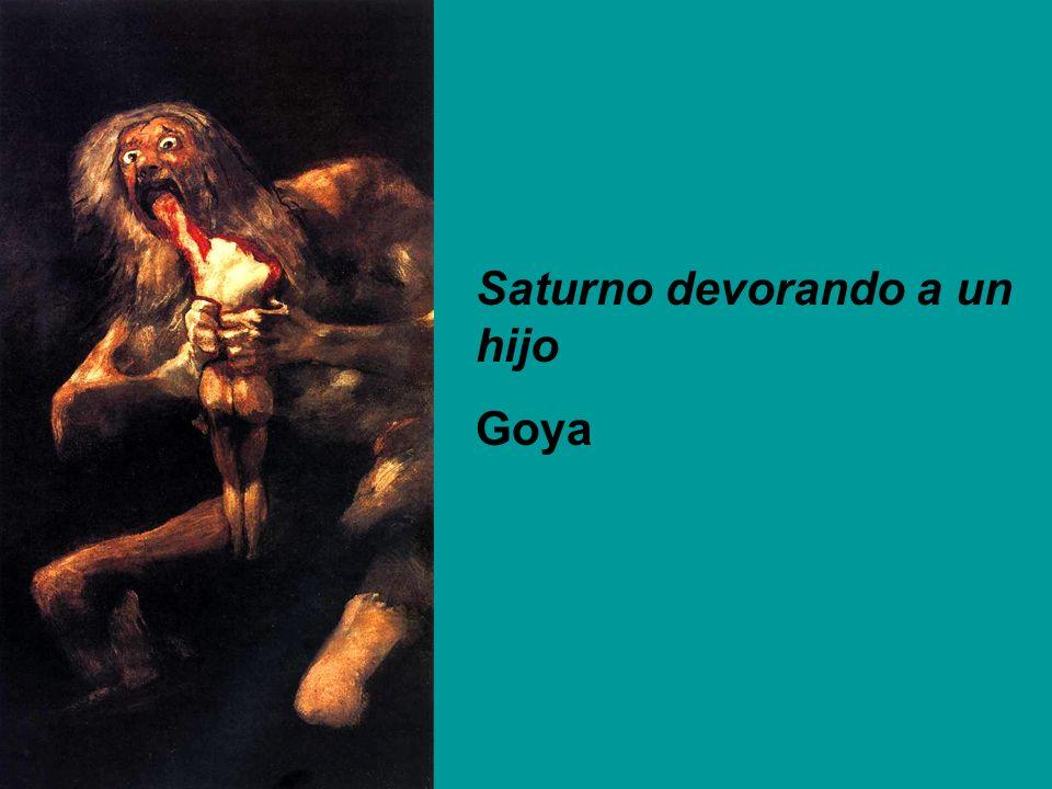 Saturno devorando a un hijo Goya