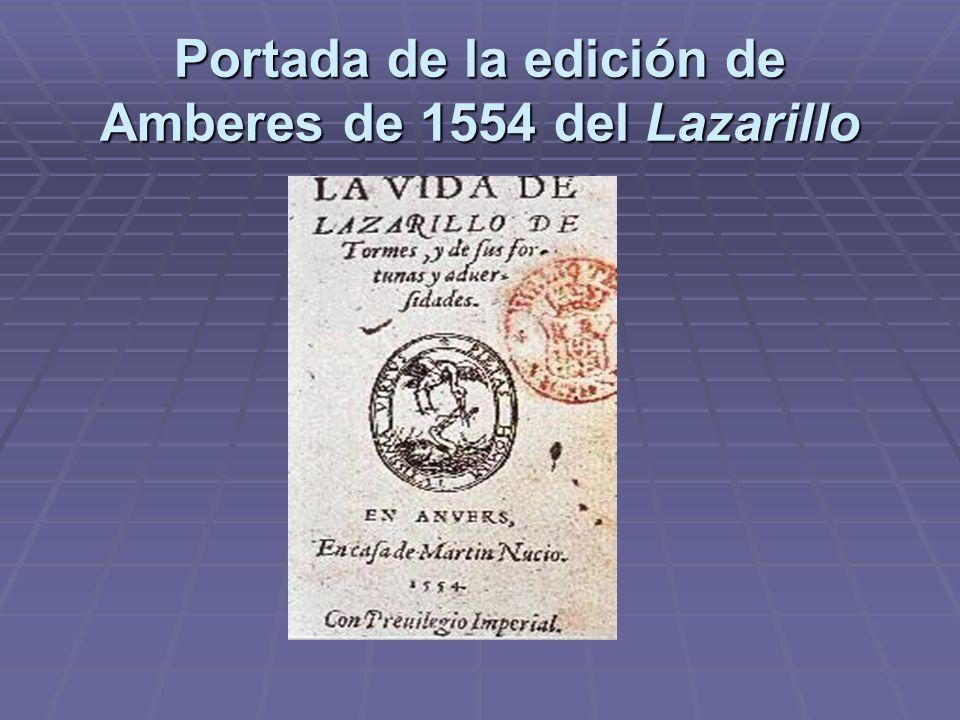 Portada de la edición de Amberes de 1554 del Lazarillo