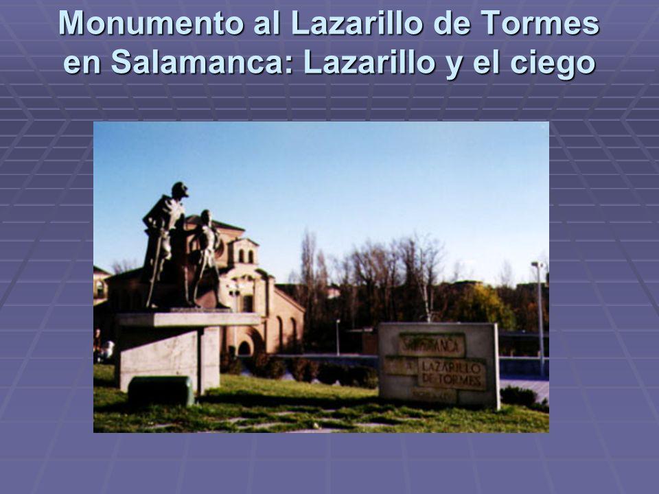 Monumento al Lazarillo de Tormes en Salamanca: Lazarillo y el ciego