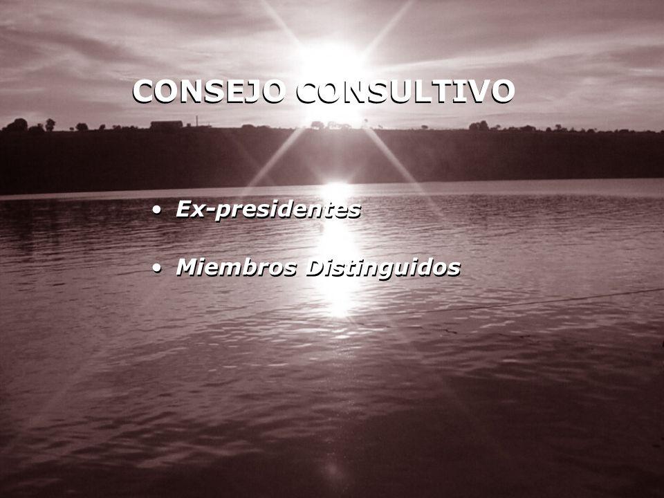 CONSEJO CONSULTIVO Ex-presidentes Miembros Distinguidos Ex-presidentes Miembros Distinguidos