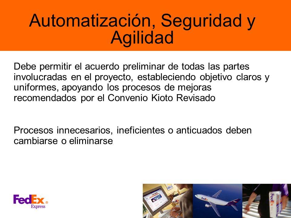 Automatización, Seguridad y Agilidad Debe permitir el acuerdo preliminar de todas las partes involucradas en el proyecto, estableciendo objetivo claro