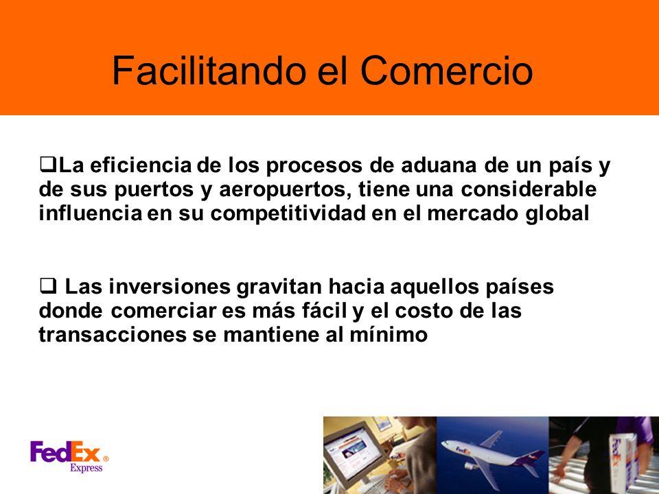 Facilitando el Comercio La eficiencia de los procesos de aduana de un país y de sus puertos y aeropuertos, tiene una considerable influencia en su com