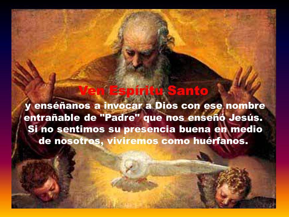 Según San Juan, el Espíritu hace presente a Jesús en la comunidad cristiana, recordándonos su mensaje, haciéndonos caminar en su verdad, interiorizand