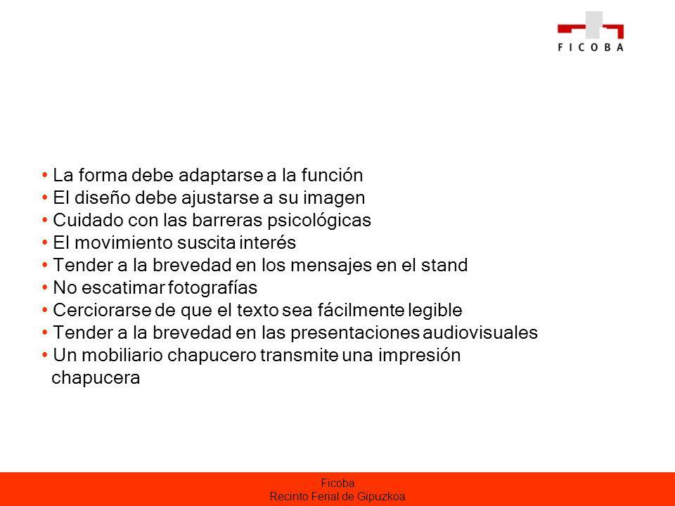 Ficoba Recinto Ferial de Gipuzkoa Listado para responsable del stand Relación básica.