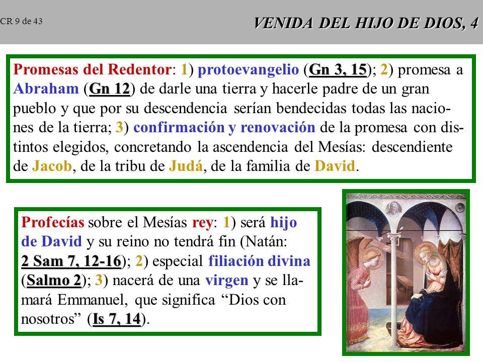 VENIDA DEL HIJO DE DIOS, 3 El hombre, con sus solas fuerzas, no puede al- canzar la salvación. Después del pecado origi- nal, todos los hombres habían