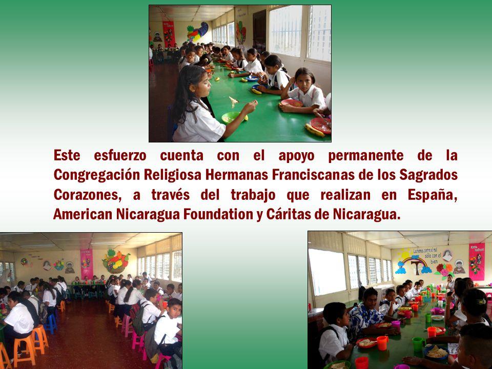 Este esfuerzo cuenta con el apoyo permanente de la Congregación Religiosa Hermanas Franciscanas de los Sagrados Corazones, a través del trabajo que re