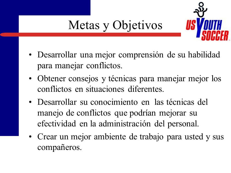 Introducción y Metas/Objetivos Por qué un Seminario en el Manejo de Conflictos? Conceptos y Estilos en el Manejo de Conflictos Escenarios y Reacciones