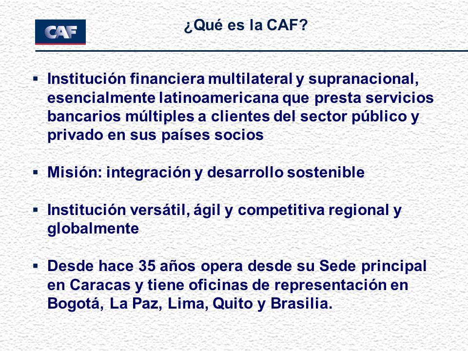 Institución financiera multilateral y supranacional, esencialmente latinoamericana que presta servicios bancarios múltiples a clientes del sector públ
