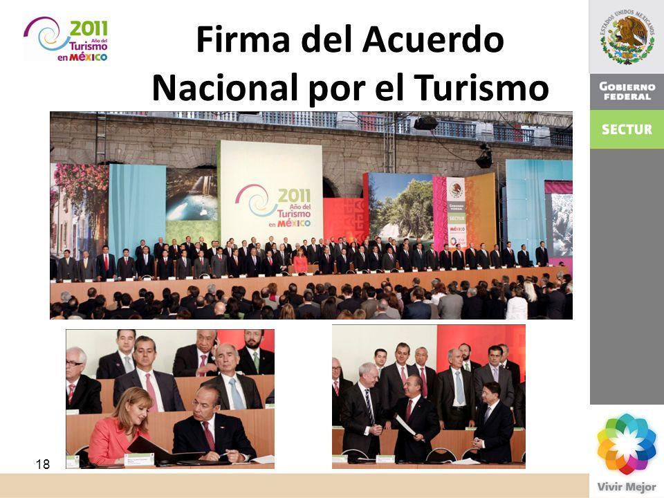 ¿Cómo? Firma del Acuerdo Nacional por el Turismo 18