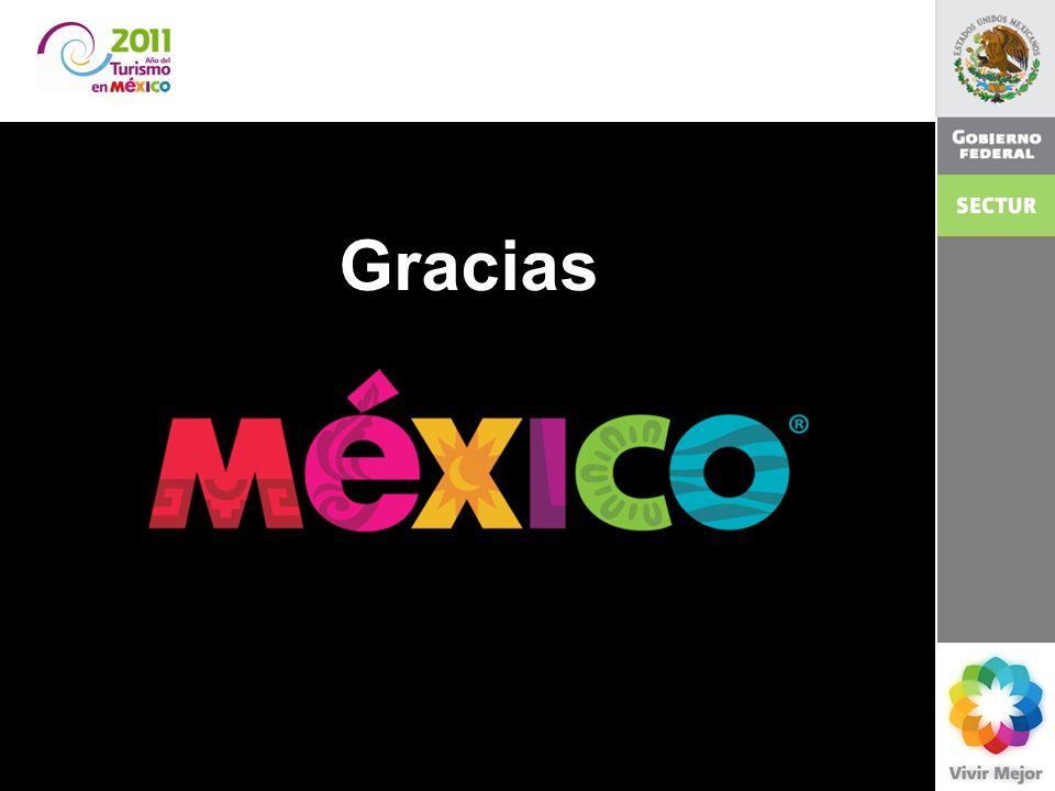2011 El turismo en México. Gloria Guevara Manzo Secretaria de Turismo 23 Gracias