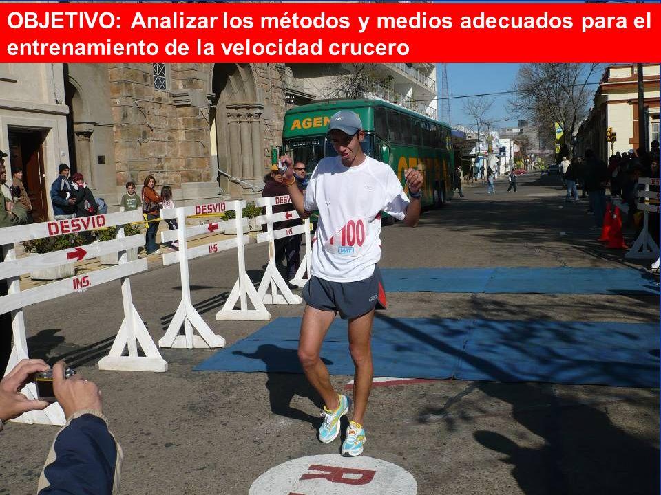 Dr. C. Adalberto Cuevas Palacios OBJETIVO: Analizar los métodos y medios adecuados para el entrenamiento de la velocidad crucero