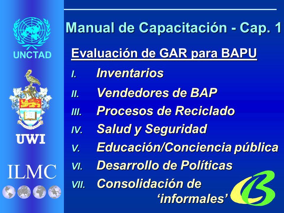 ILMC UNCTAD UWI Manual de Capacitación - Cap. 1