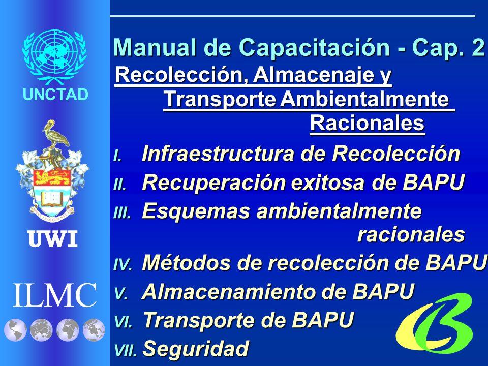ILMC UNCTAD UWI Evaluación de GAR para BAPU I. Inventarios II.