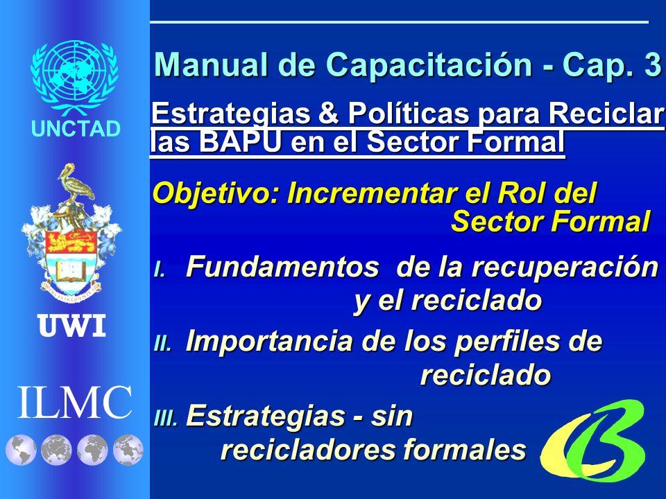 ILMC UNCTAD UWI I. Infraestructura de Recolección II.
