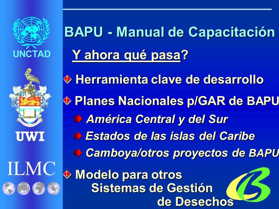 ILMC UNCTAD UWI Movimientos transfronterizos de BAPU Movimientos transfronterizos de BAPU I.