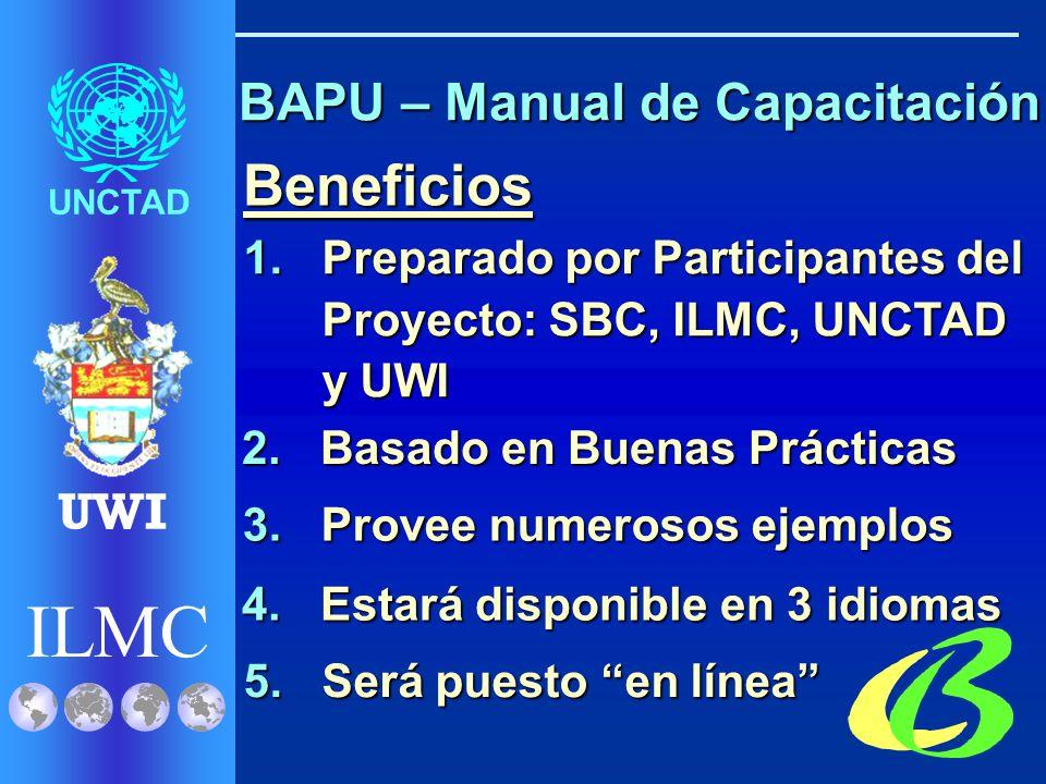 ILMC UNCTAD UWI BAPU – Manual de Capacitación 1. Evaluación de GAR 2.