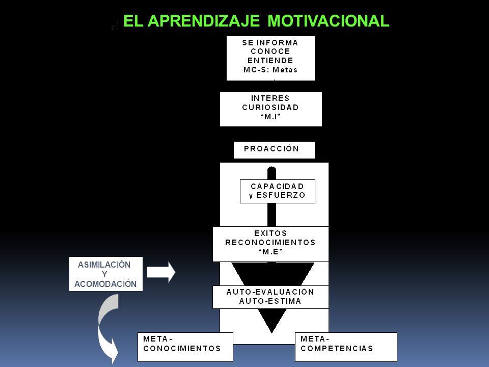 EL APRENDIZAJE MOTIVACIONAL ASIMILACIÓN Y ACOMODACIÓN