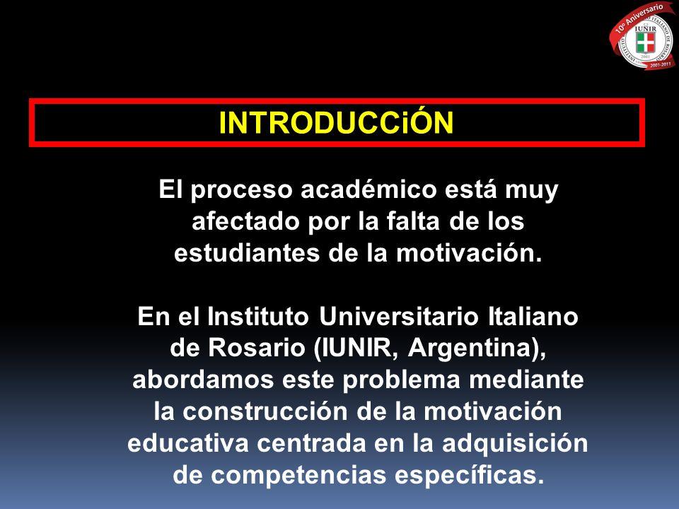 INTRODUCCiÓN El proceso académico está muy afectado por la falta de los estudiantes de la motivación. En el Instituto Universitario Italiano de Rosari