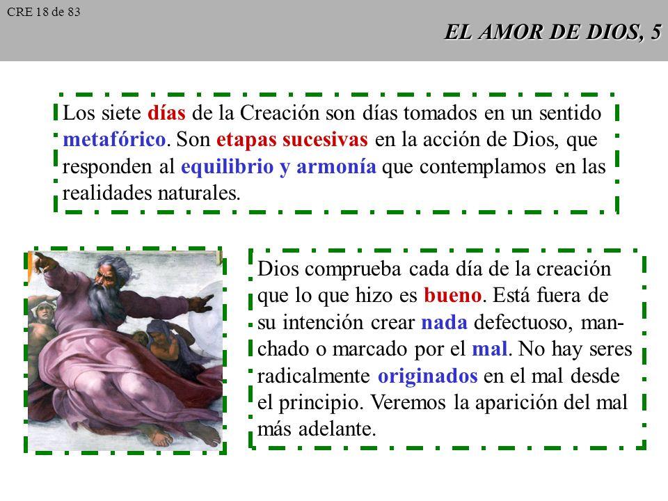 EL AMOR DE DIOS, 4 CCE 295 CCE 295: Creemos que Dios creó el mundo según su sabiduría. Este no es producto de una necesidad cualquiera, de un destino