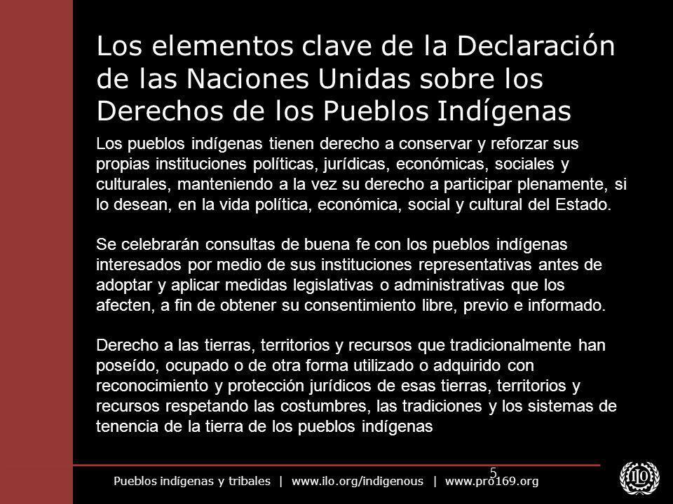 Pueblos indígenas y tribales | www.ilo.org/indigenous | www.pro169.org 5 Los pueblos indígenas tienen derecho a conservar y reforzar sus propias insti