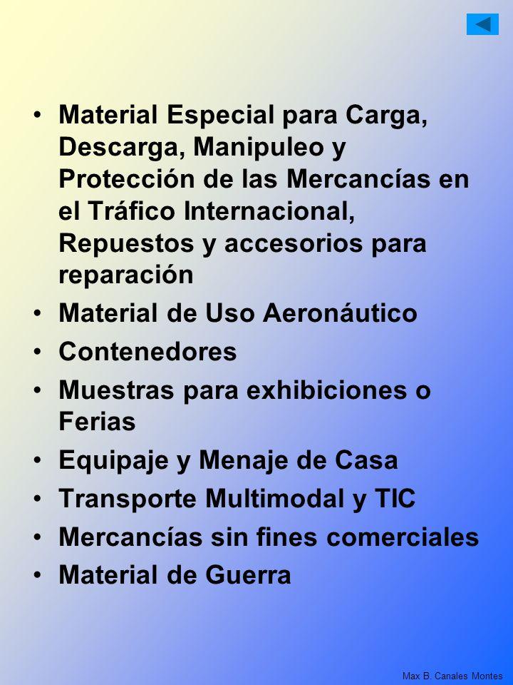 Material Especial para Carga, Descarga, Manipuleo y Protección de las Mercancías en el Tráfico Internacional, Repuestos y accesorios para reparación M