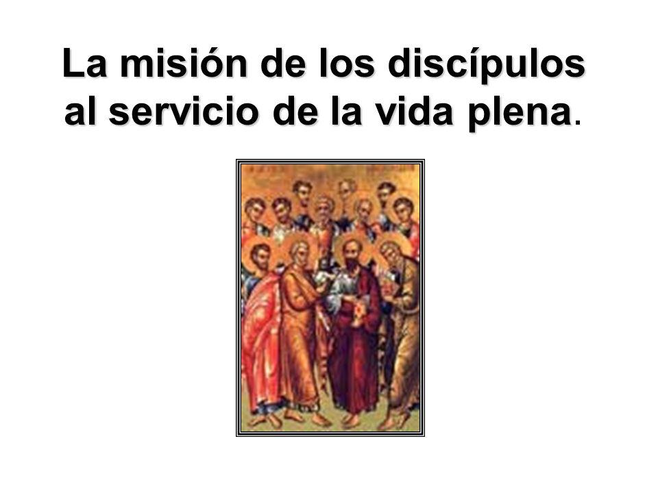 La misión de los discípulos al servicio de la vida plena La misión de los discípulos al servicio de la vida plena.