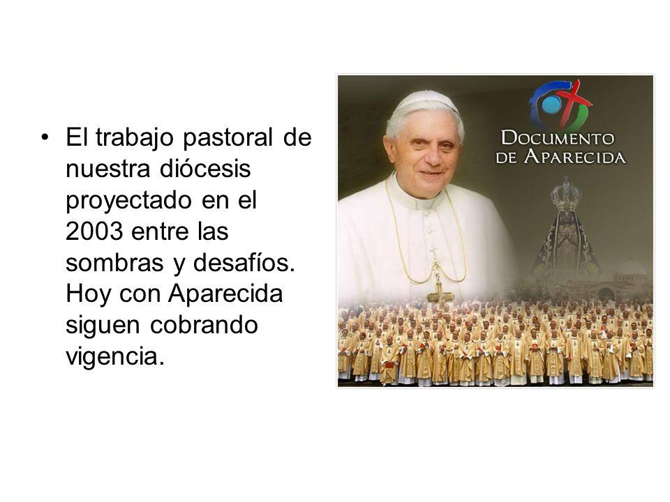 El trabajo pastoral de nuestra diócesis proyectado en el 2003 entre las sombras y desafíos. Hoy con Aparecida siguen cobrando vigencia.