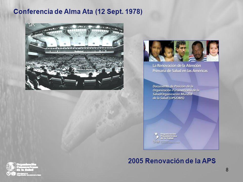 Conferencia de Alma Ata (12 Sept. 1978) 2005 Renovación de la APS 8