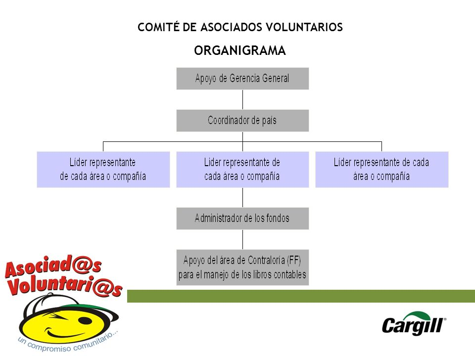 COMITÉ DE ASOCIADOS VOLUNTARIOS ORGANIGRAMA