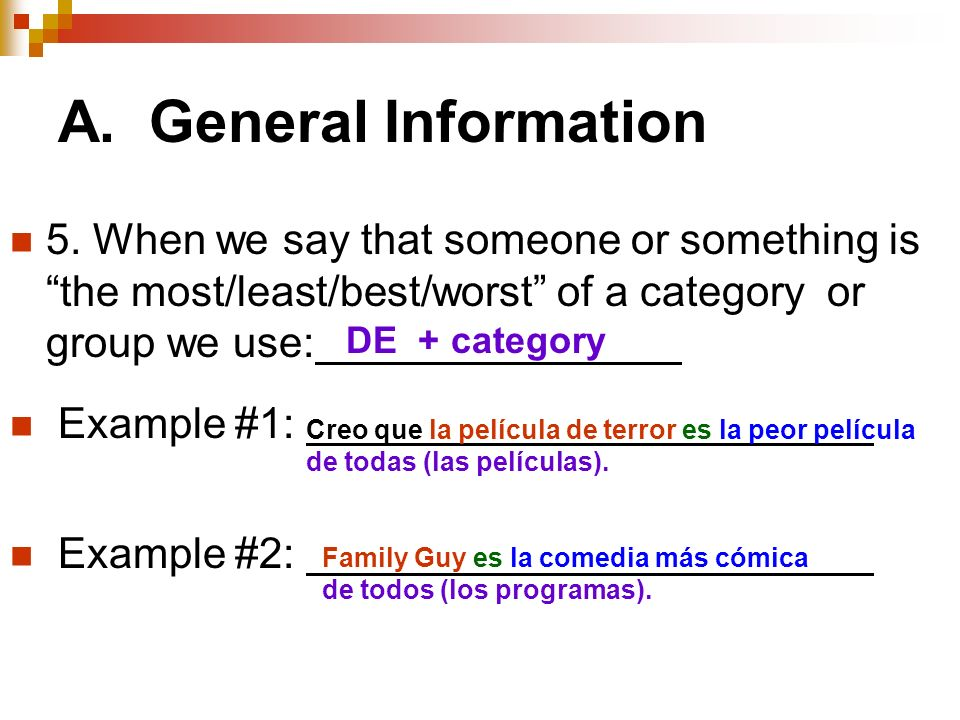 A. General Information 5.