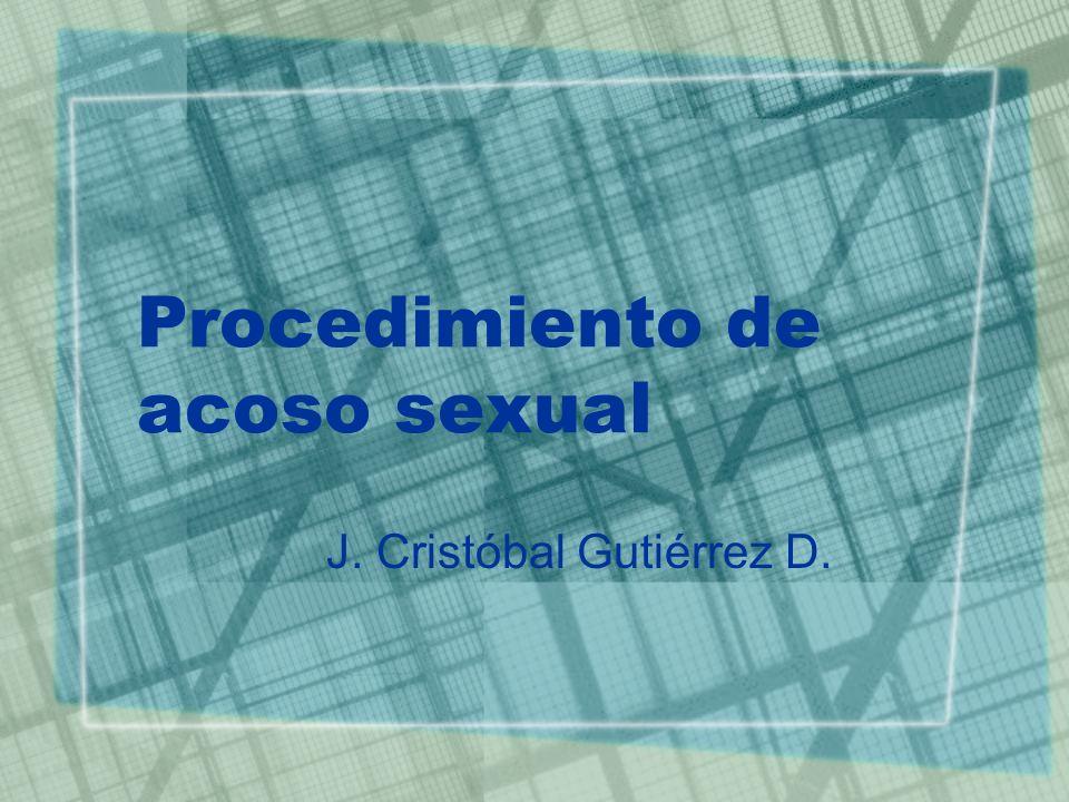 Acoso sexual Normativa involucrada.–C.P.R. Art.