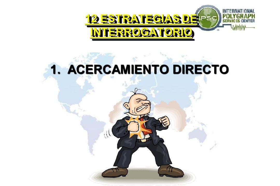 12 ESTRATEGIAS DE INTERROGATORIO 1. ACERCAMIENTO DIRECTO