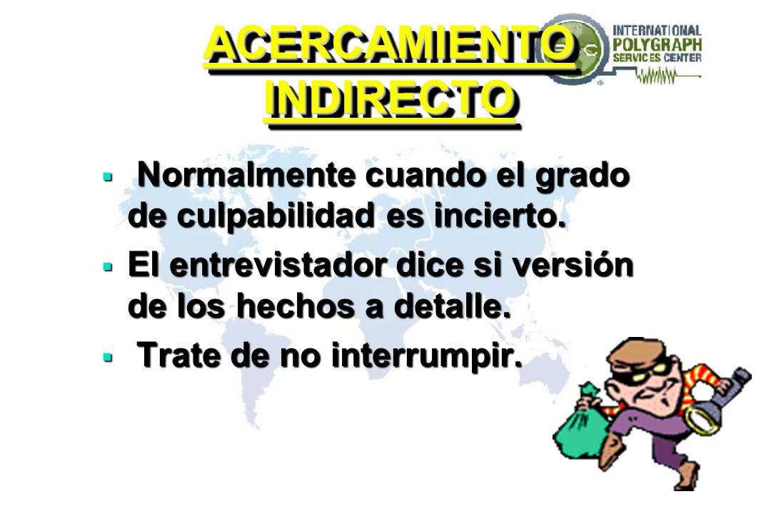 ACERCAMIENTOS DE INTERROGATORIO 10. ACERCAMIENTO EGOÍSTA