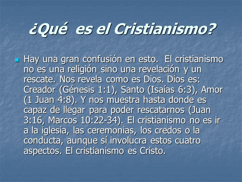 ¿Qué es el Cristianismo? Hay una gran confusión en esto. El cristianismo no es una religión sino una revelación y un rescate. Nos revela como es Dios.