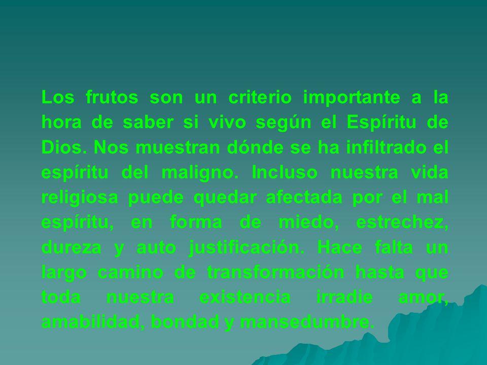 Los frutos son un criterio importante a la hora de saber si vivo según el Espíritu de Dios. Nos muestran dónde se ha infiltrado el espíritu del malign
