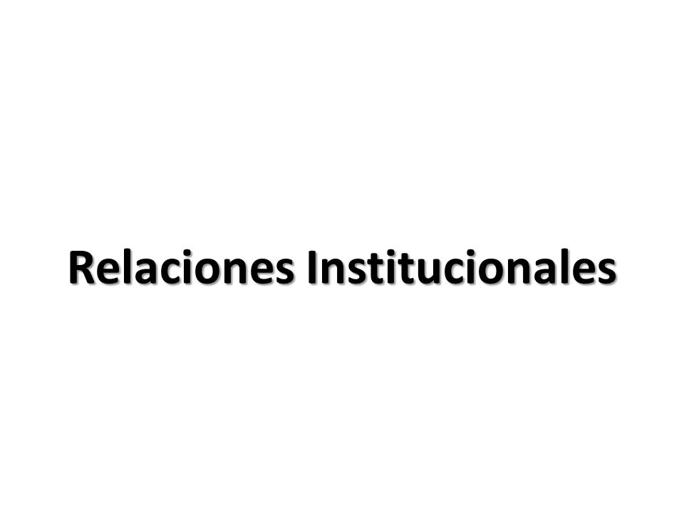 GERENCIA DE RELACIONES INSTITUCIONALES 5 La Gerencia de Relaciones Institucionales tiene a su cargo propiciar y facilitar la interacción de la institución con su entorno (sector público y privado), incluidas las labores de coordinación técnica con el Congreso de la República.