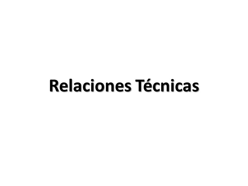 Relaciones Técnicas