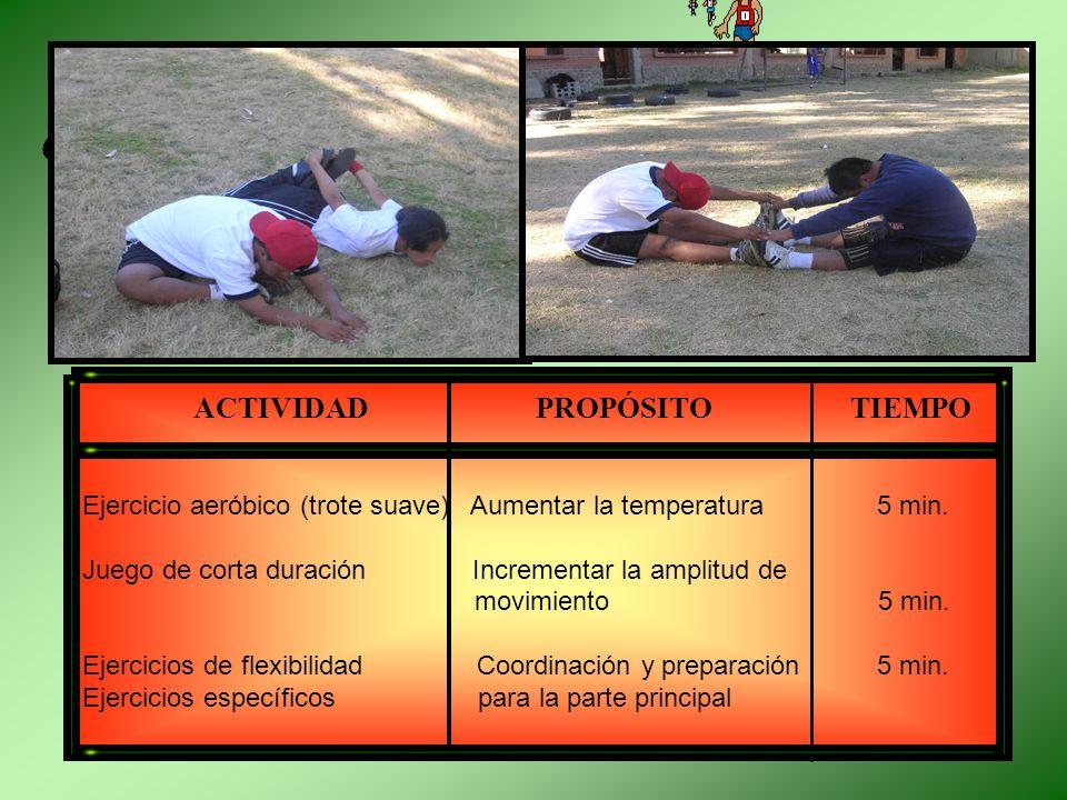 FACE INICIAL CALENTAMIENTO.- El calentamiento es una preparación general, suave y progresiva que debe abarcar músculos, articulaciones, ligamentos y ó